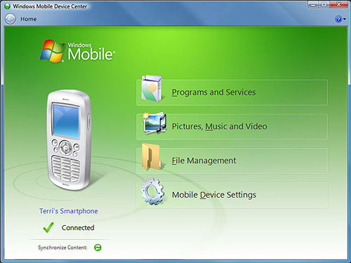 Windows Mobile Device Center – WMDC